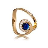Золотое кольцо Женевьева с опалом и фианитами