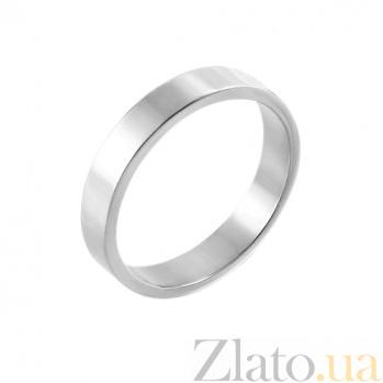 Обручальное кольцо из белого золота Модная классика 10104б