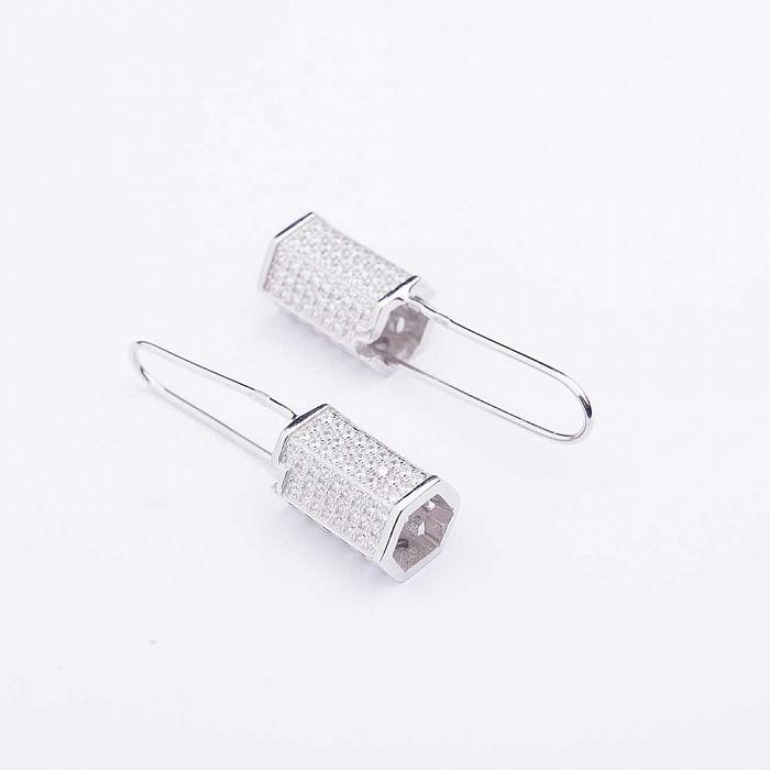 Серебряные серьги Тейлор с фианитами 000080165