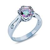 Серебряное кольцо с мистик топазом Тория