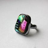 Серебряное кольцо с имитацией опала Авангард