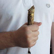 Набор шампуров Стая с бронзовыми рукоятками и кожаным чехлом