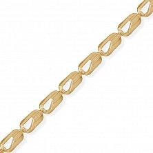Минималистичный браслет Бавария в красном золоте, 3,5мм