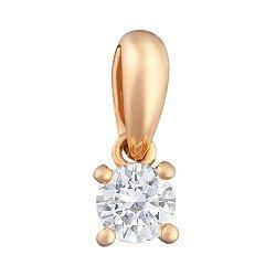 Подвеска из красного золота с бриллиантом 000101498