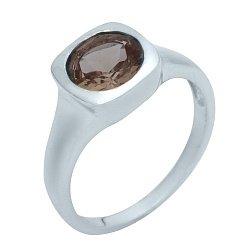 Серебряное кольцо Миррей с завальцованным султанитом