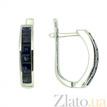 Золотые серьги с сапфирами Мадрид ZMX--ES-6122w_K