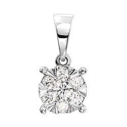 Підвіска з білого золота з діамантами 000138600