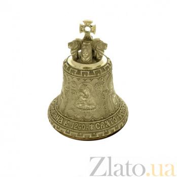 Большой бронзовый колокольчик Почаевская Лавра K3201