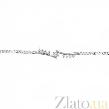 Серебряный браслет с фианитами Верность 10020024