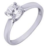 Серебряное кольцо с цирконием Маяк