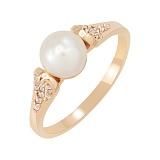 Золотое кольцо Маргарита с жемчугом