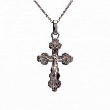 Крест из белого золота Благость