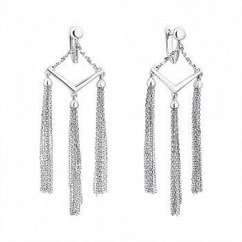 Серебряные серьги-люстры 000059153