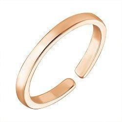 Серебряное фаланговое кольцо с красной позолотой 000053471