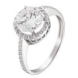 Серебряное помолвочное кольцо Вивьен с фианитами
