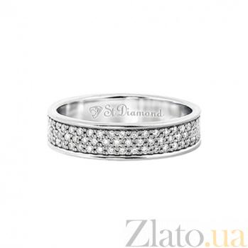 Золотое кольцо с бриллиантами Объятия рассвета 000029690