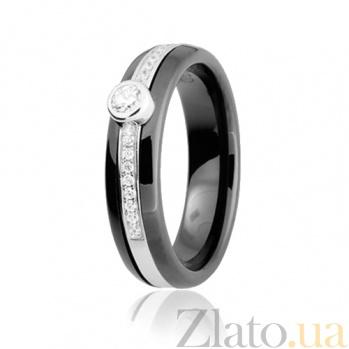 Керамическое кольцо с фианитами Эклектика 000025682