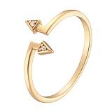 Кольцо в желтом золоте Направление с фианитами
