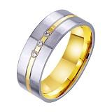 Золотое обручальное кольцо Бесконечная страсть с фианитами