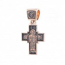 Крест из красного золота Божественный свет