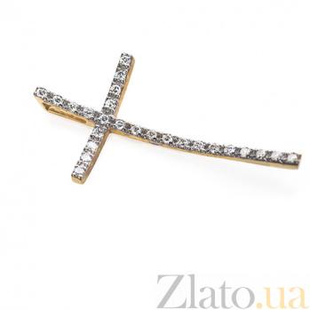 Золотой крестик с бриллиантами Благоденствие P0365