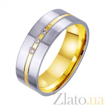 Золотое обручальное кольцо Бесконечная страсть с фианитами TRF--4521754