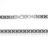 Серебряная цепочка Вэйд с чернением, 45 см, 4,5 мм