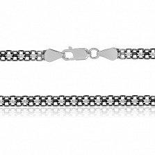 Серебряная цепочка Вэйд с чернением, 4,5 мм