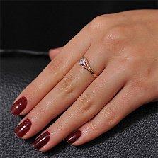 Золотое кольцо с цирконием Нинон