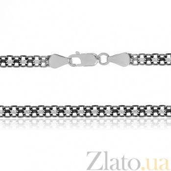 Серебряная цепочка Вэйд с чернением, 45 см, 4,5 мм 000030821