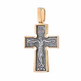 Распятие из серебра Пять святителей с чернением и позолотой