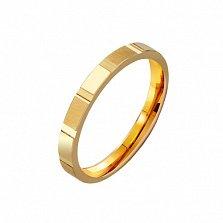 Золотое обручальное кольцо Энергия