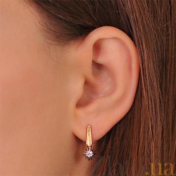 Золотые серьги с бриллиантами Джуна EDM-С7520