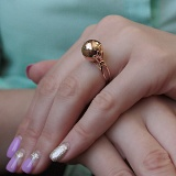 Кольцо из красного золота Модная геометрия