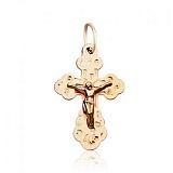 Крестик из красного золота Молитва