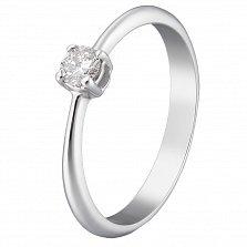 Кольцо из белого золота Милена с бриллиантом