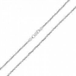 Серебряная цепь с родированием 000027412