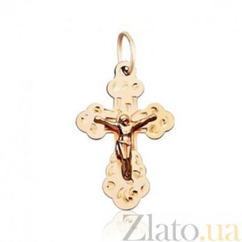Крестик из красного золота Молитва EDM--КР067