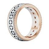 Обручальное кольцо Карусель желаний из белого и розового золота с бриллиантами