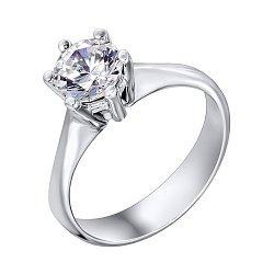 Серебряное кольцо с фианитом 000117747