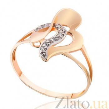 Золотое кольцо с цирконием Кимберли EDM--КД2010