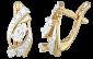 Позолоченные серьги из серебра с цирконием Импульс SLX--С3Ф/131