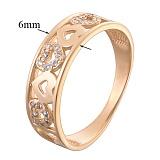 Обручальное кольцо из красного золота Филомена