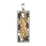 Подвеска Пантера из белого золота с фианитами