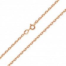 Серебряная цепочка Имидж в позолоте, 2мм