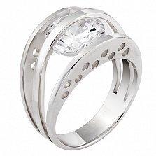 Серебряное кольцо Илина с цирконием
