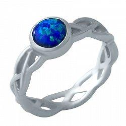 Серебряное кольцо Фабиана с синим опалом