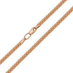 Цепочка из красного золота в плетении колосок 000132305