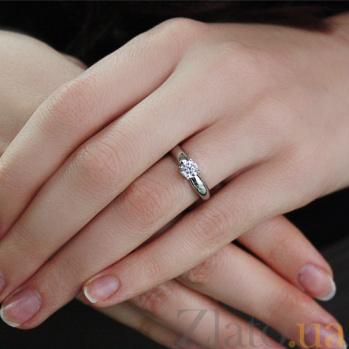 Золотое кольцо Карлая в белом цвете с цирконием 000022863