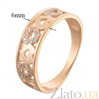 Обручальное кольцо из красного золота Филомена 12023